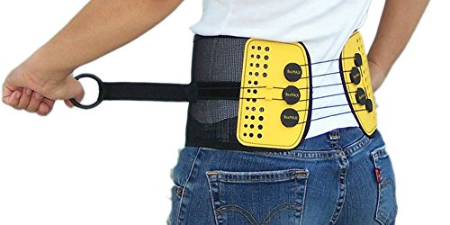 BaxMAX Lumbar Support Belt with Compound Pulley System - Made of Lightweight & Breathable Mesh - Instant Relief for Low Back Pain (Large) ()