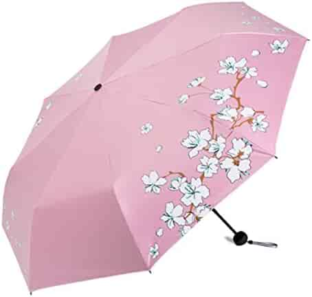 Umbrella Three People Windproof ZHAO YING Folding Reinforced Oversized Color : Red Double Folding Umbrella