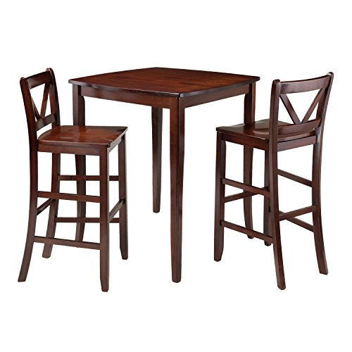 Winsome Trading Inglewood 3 Piece Counter Height Dining Tabl