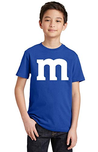 Promotion & Beyond M Halloween Team Costume Funny Party Youth T-Shirt, Youth XL, Royal -