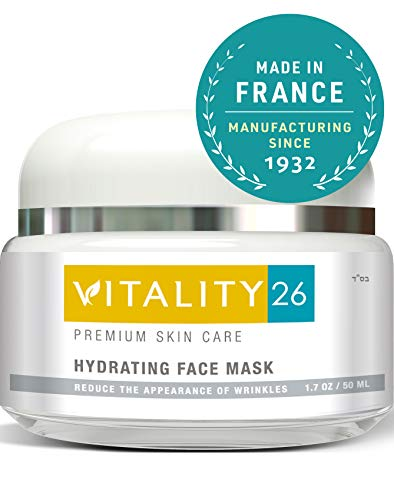 - Vitality26 Hydrating Face Mask - Brightening Face Mask for Wrinkles & Fine Lines with Clay, Marine Collagen, Elastin & Avocado Oil & More - Effective Rosacea Treatment For Face