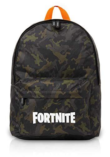Fortnite Rucksack Für Die Schule Kinder | Rucksack Schultasche mit Logo | Schulrucksack Jungen | Offiziellen Merchandise-Produkte von Fortnite Llama, Camouflage | Video-Gamer-Geschenke (Khaki Grun)