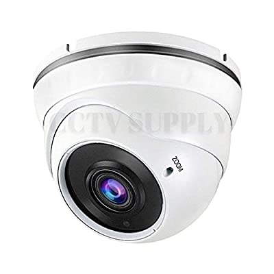 Real HD 1080P Dome Outdoor Security Camera (Quadbrid 4-in1 HD-CVI/TVI/AHD/Analog), 2MP 1920x1080, 100ft Night Vision, Metal Housing, 2.8-12mm Varifocal Wide Viewing Angle, White from Real HD