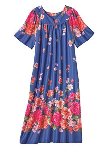 Muumuu Caftan - AmeriMark Lounger House Dress with Pockets for Women Muu Muu Nightgown Plus Size