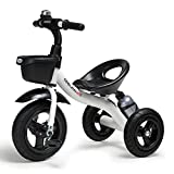 COOL-Series Kids Trike Toddlers Children Tricycle Stroller Trike 3 Wheel Pedal Bike Multicolor for 2 3 4 5 6 Years Old Boys Girls Indoor & Outdoor with Storage Bin and Cup Holder (White)