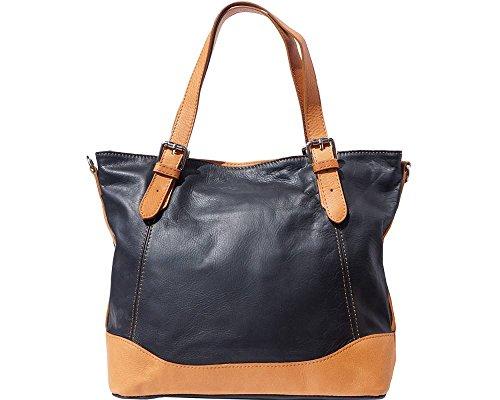 LaGaksta Bonnie Genuine Soft Leather Shoulder Tote Bag (Bonnie Black Leather)