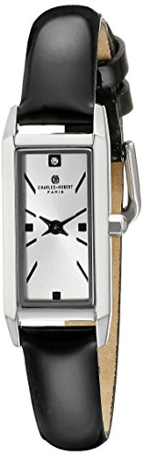 Charles-Hubert, Paris Women's 6911-W Premium Collection Analog Display Japanese Quartz Black Watch