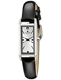 Charles-Hubert, Paris Women's 6911-W Premium Collection Analog Display Japanese Quartz Black Watch