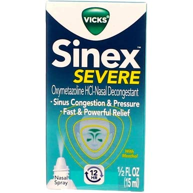 (Vicks Sinex Severe Nasal Spray With Menthol 0.50 oz (Pack Of 10))