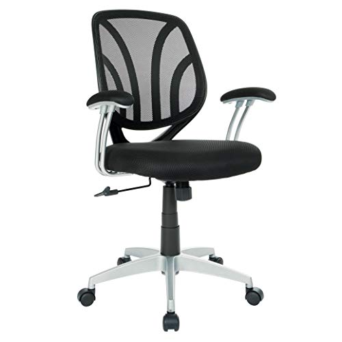 Amazon com: Ave Six EMH69203S-3M Screen Back Office Task Chair Black