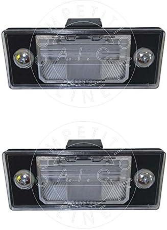 Aic Quality 2 X Kennzeichenbeleuchtung Nummernschildbeleuchtung Kennzeichenleuchte Kennzeichen Leuchte Komplett Mit Schrauben Glühlampe Und Dichtung Für 1j6 1j5 1k5 Auto