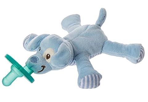 Mary Meyer Puppy WubbaNub Soft Toy and Pacifier, Blue (Mary Meyer Wubbanubs)