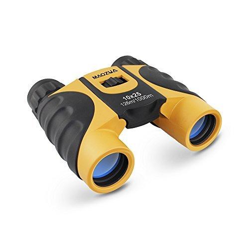 MAOZUA 10x25 Compact Binocular Telescope Adjustable Mini Folding Lightweight Binocs for Traveling,Sightseeing,Climbing and Birding Watching