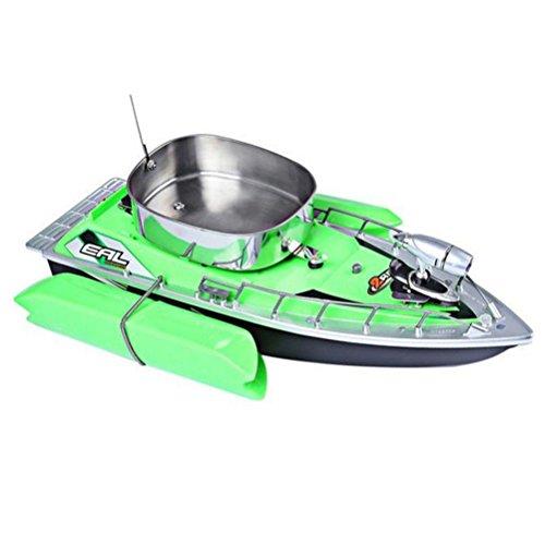 VORCOOL Barco Teledirigido Inalámbrico del Cebo de Pesca del RC Control Remoto con el Enchufe de la UE (Verde)