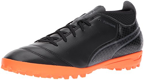 PUMA Mens One 17.4 TT Soccer-Shoes Puma Black/Puma Black/Shocking Orange EVZw9Xc