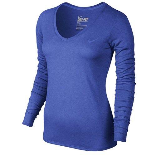 Nike Womens Legend 2.0 Longsleeve Running Shirt, Game Royal Blue, Small, 683640 480