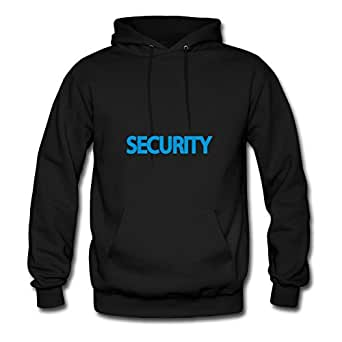 For Women Cotton Black Custom Casual Vogue Security Hoodies X-large
