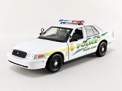 GreenLight 1:18 CSI: Miami (2002-2012 TV Series) - 2003 Ford Crown Victoria Police Interceptor Miami-Dade Police (13514)