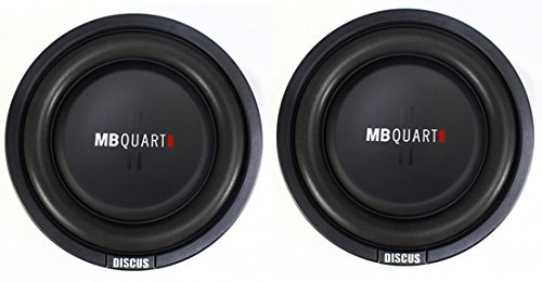 2) MB Quart DS1-204 400 Watt 8 Inch Shallow Slim Subs DVC Car Subwoofers Pair (Shallow Mount Subwoofer 8 Inch)