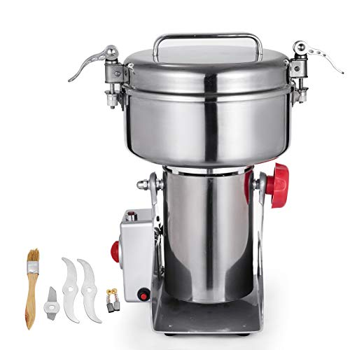 Happybuy Electric Grain Grinder 2000g Pulverizer Grinding Machine 4000W Mill Grinder Powder Machine 50-300 Mesh Food Grade Stainless Steel Swing Type Grain Grinder Mill for Kitchen Herb Spice Pepper Coffee by Happybuy (Image #8)