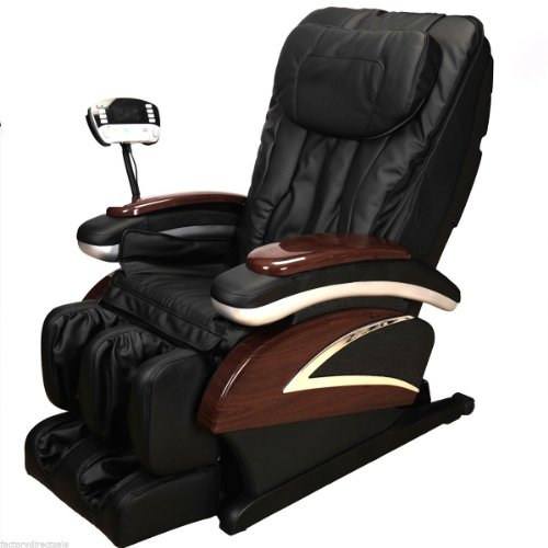Electronic Full Body Shiatsu Massage Chair Recliner W/heat Stretched Foot Rest (black)