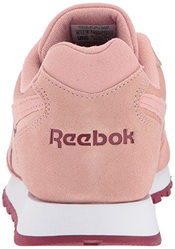 Reebok Womens Classic Harman Run Sneaker Gesso Rosa / Urbano Marrone / Bianco
