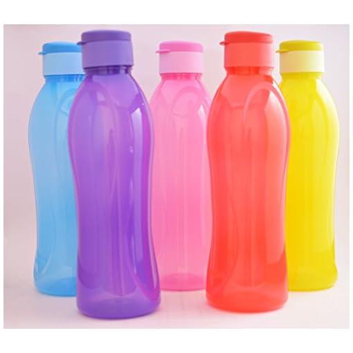 Cello Water Bottle Fresca Flip Top Set, 1000Ml, Set Of 5