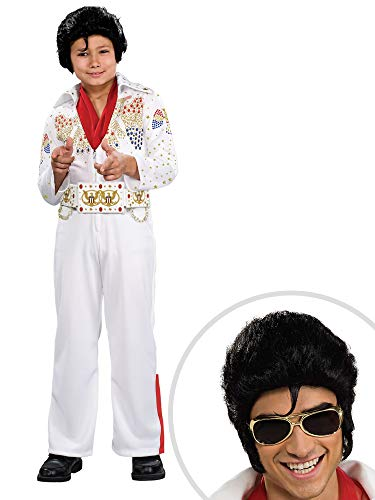 Elvis Deluxe Costume Kit Kids Small With Elvis Glasses