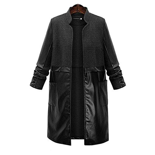 leather dress coat - 7