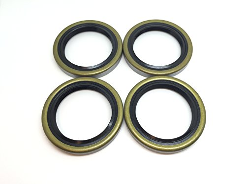 (Pack of 4) Americanprime Trailer Hub Wheel Grease Seal 168233TB 1.688'' x 2.332'' Double Lip #84 Spindle