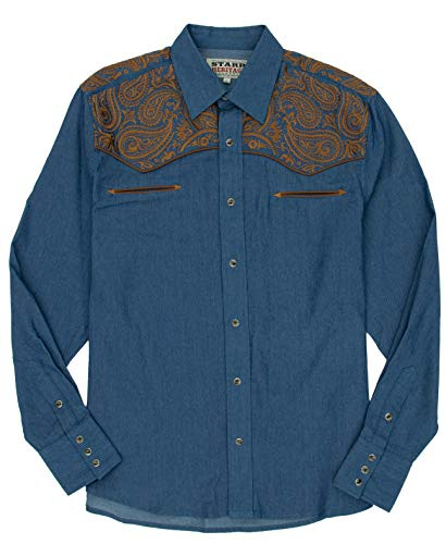 (STARR Heritage Embroidered Long Sleeve Western Snap Shirt - SHC005)
