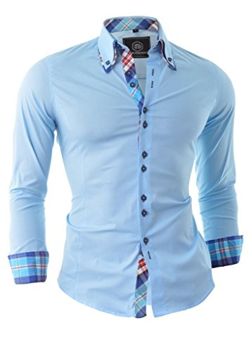 D&R Fashion Shirt smart con collo classico Slim Fit italiana design vari colori