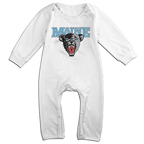 Price comparison product image OOKOO Baby's University Of Maine Black Bears Bodysuits Outfits White 18 Months