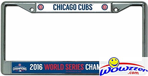 Chicago Cubs 2016 WORLD SERIES CHAMPIONS Rico License Plate Frame ...