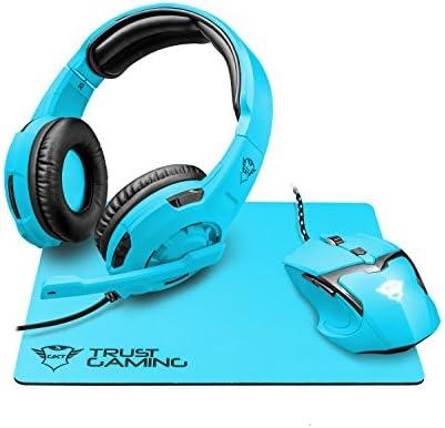 Trust Gaming GXT 790-SB Spectra - Pack Gaming 3 en 1: Auriculares, ratón y Alfombrilla, Azul: Amazon.es: Informática