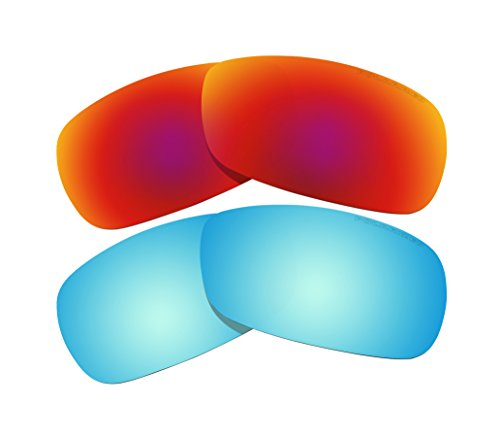 224db51e24 2 Pairs BVANQ Polarized Lenses Replacement Red   Blue for Oakley Crosshair  2.0 (OO4044) Sunglasses - Buy Online in Oman.