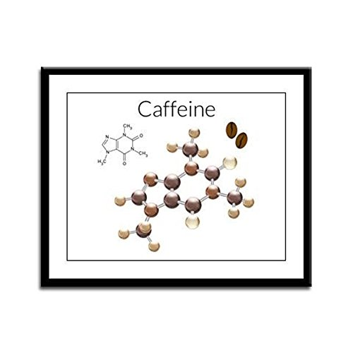 Framed Panel Print Caffeine Lover 3D Atomic Structure ()