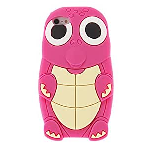 Cute Cartoon Turtle Style Protective Silicone Case for iPhone 5(Assoited Color) , Rose