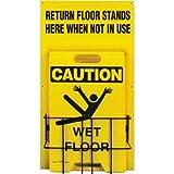 FLOOR STAND HOLDER-30X16-YLW/BLK 80101