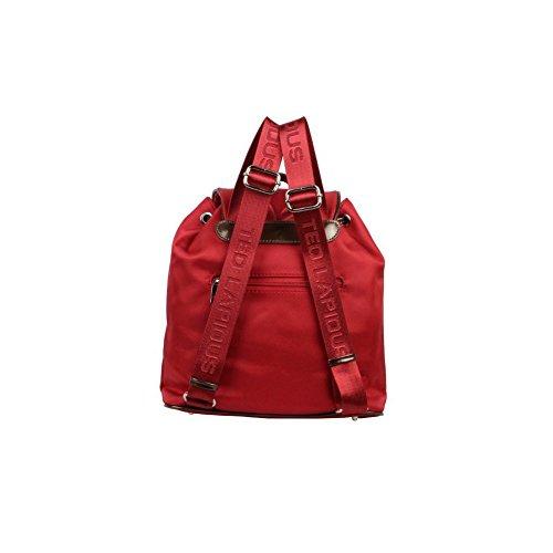 Ted Lapidus, Borsa a secchiello donna rosso rosso 29 (L) x 30 (H) x 12 (E) cm