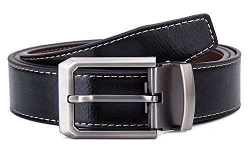 Review Tonly Monders Men's Belt Leather Reversible Black Brown, 1.25 Inch Wide, 28 30 32 34 Waist