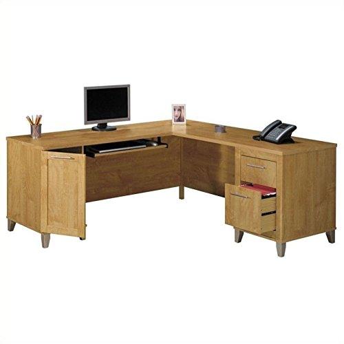 Somerset 71W L Shaped Desk in Maple Cross by Bush Furniture