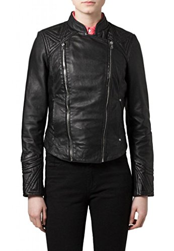 Giacca Junction Leather Leather Donna Junction Nero 0qWPfYw