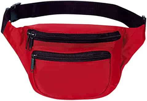 Fanny Pack, BuyAgain Quick Release Buckle Travel Sport Waist Fanny Pack Bag With 3 Zippered Compartments Fit Smart Cell Phone and Passport.