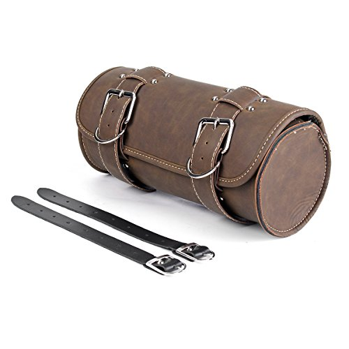 - QUORA Motorcycle Tool Brown Bag Luggage Saddlebag Roll Barrel Storage For Harley Sportster