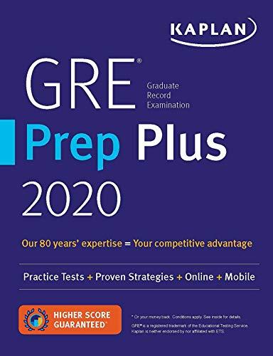 GRE Prep Plus 2020: 6 Practice Tests + Proven