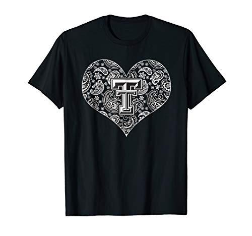 (Texas Tech Red Raiders Heart Paisley - Red Raiders T-Shirt)
