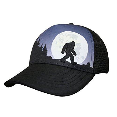 Headsweats Bigfoot Moon Rising 5 Panel Trucker Hat, Blue, One Size (Good Trucker Hat)