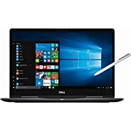 DELL Inspiron 7000 2-in-1 4K UHD IPS Touch-Screen Laptop, Intel Quad-Core i7-8550U Up to 4GHz, 16GB DDR4, 256GB SSD, NVIDIA GeForce MX130 Graphics, Fingerprint Reader, Backlit Keyboard, Win 10