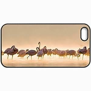 Fashion Unique Design Protective Cellphone Back Cover Case For iPhone 5 5S Case Flamingo Black